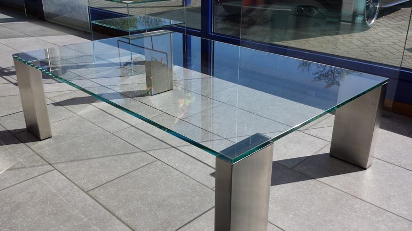 Rechthoekige Glazen Tafel.Glazen Meubels Op Maat Laten Maken Glashandel Derissen